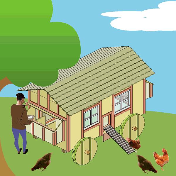 snazzy chicken coop